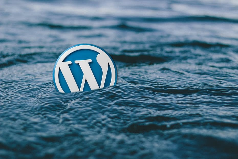 wordpress login in water