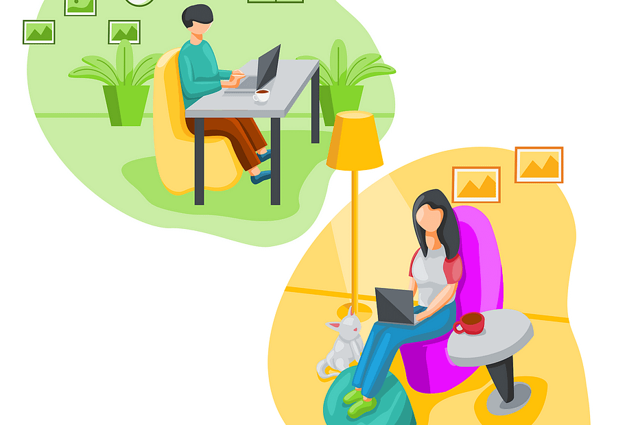 work, home, laptop
