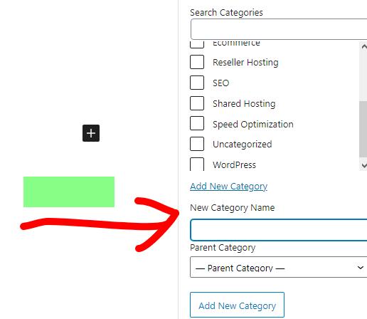 add new category in worpress